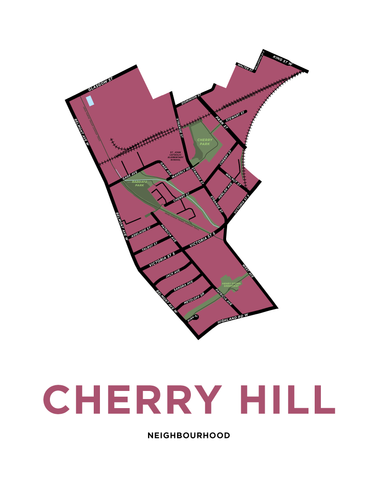 Cherry Hill Neighbourhood Map Print