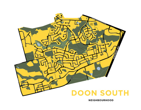 Doon South Neighbourhood Map Print
