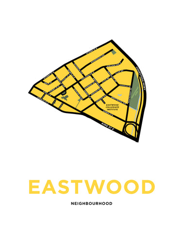 Eastwood Neighbourhood Map Print