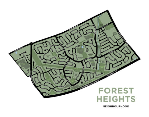 Forest Heights Neighbourhood Map (Kitchener)