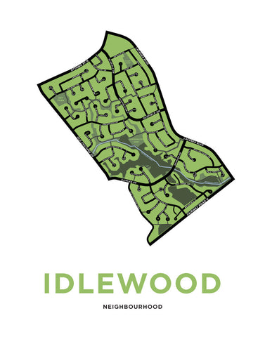 Idlewood Neighbourhood Map Print