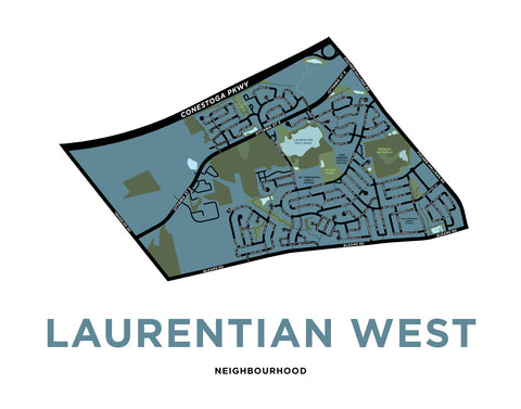 Laurentian West Map Print