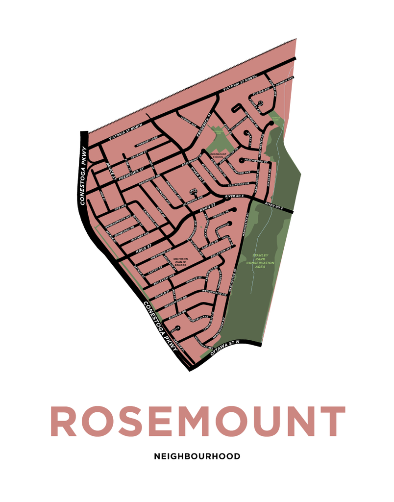 Rosemount Neighbourhood Map Print