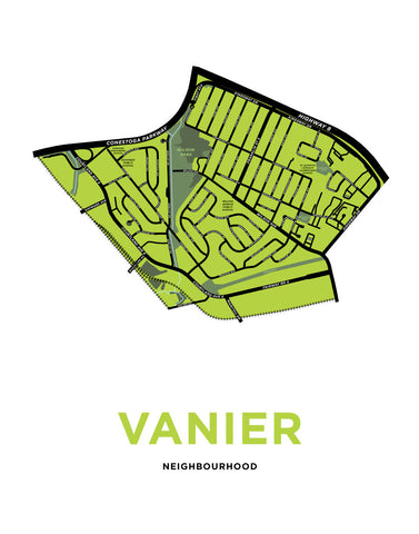 Vanier Neighbourhood Map Print