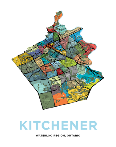 Kitchener - Full City Map Print