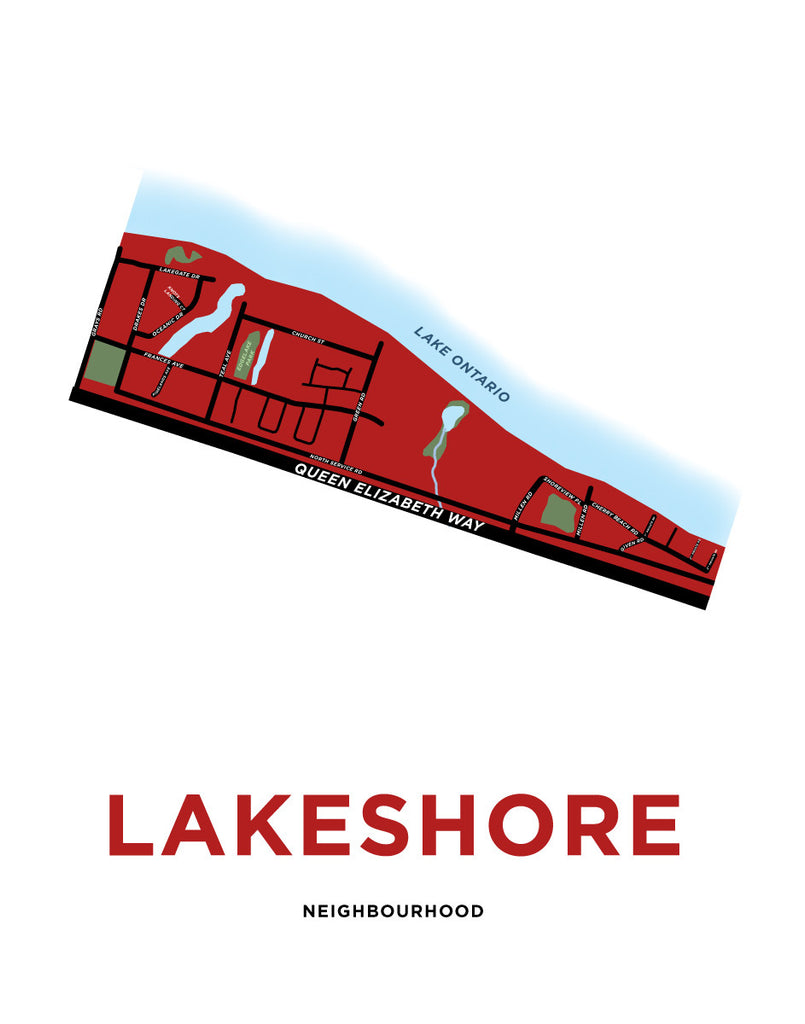 Lakeshore Neighbourhood Map - Portrait Orientation