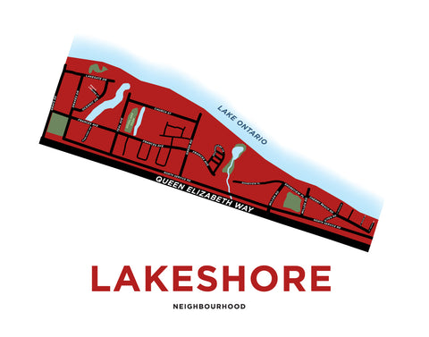 Lakeshore Neighbourhood Map