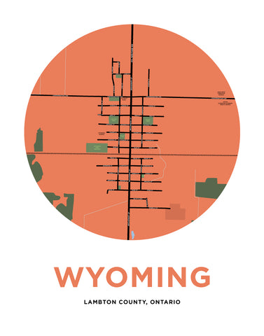 Wyoming Map Print (Lambton County, Ontario)