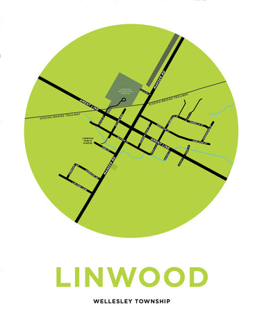 Linwood Map Print