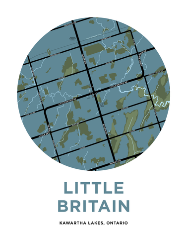 Little Britain Map Print