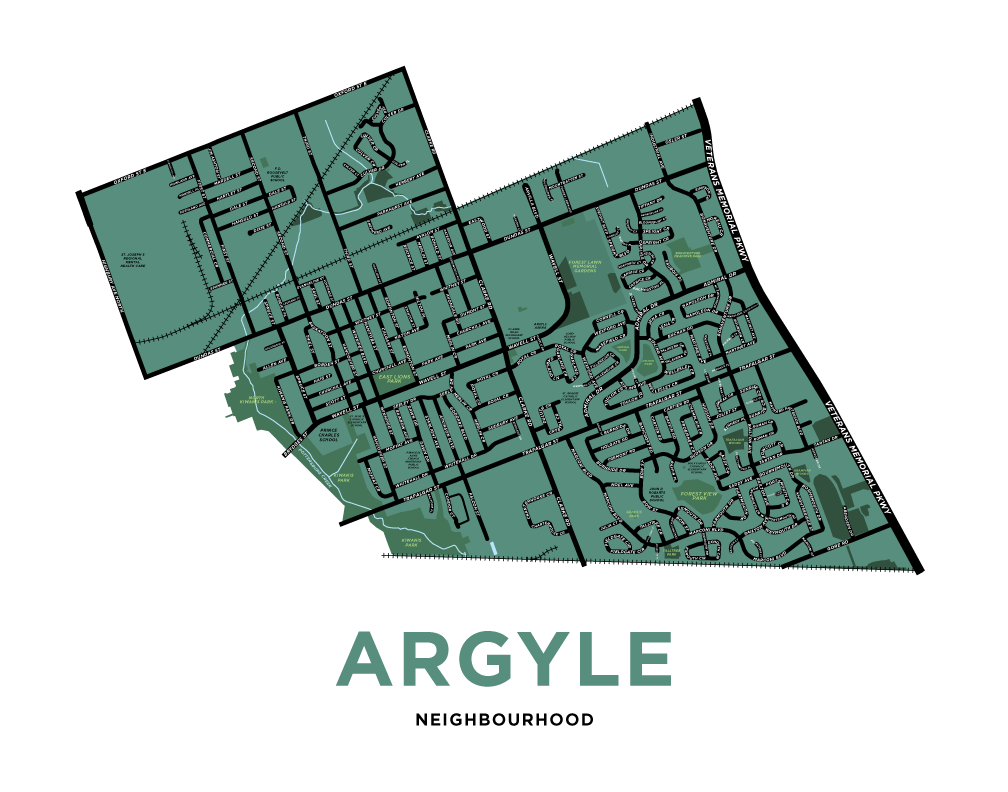 Argyle Neighbourhood Map Print