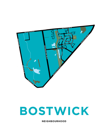 Bostwick Neighbourhood Map Print