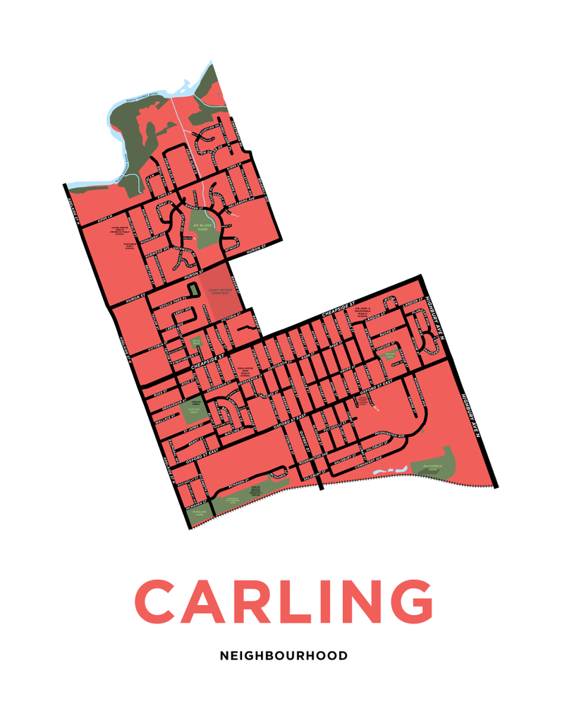 Carling Neighbourhood Map Print