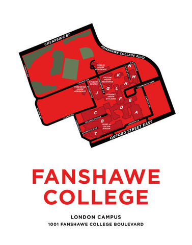 Fanshawe College Map Print (London Campus)