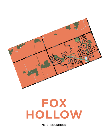 Fox Hollow Neighbourhood Map Print