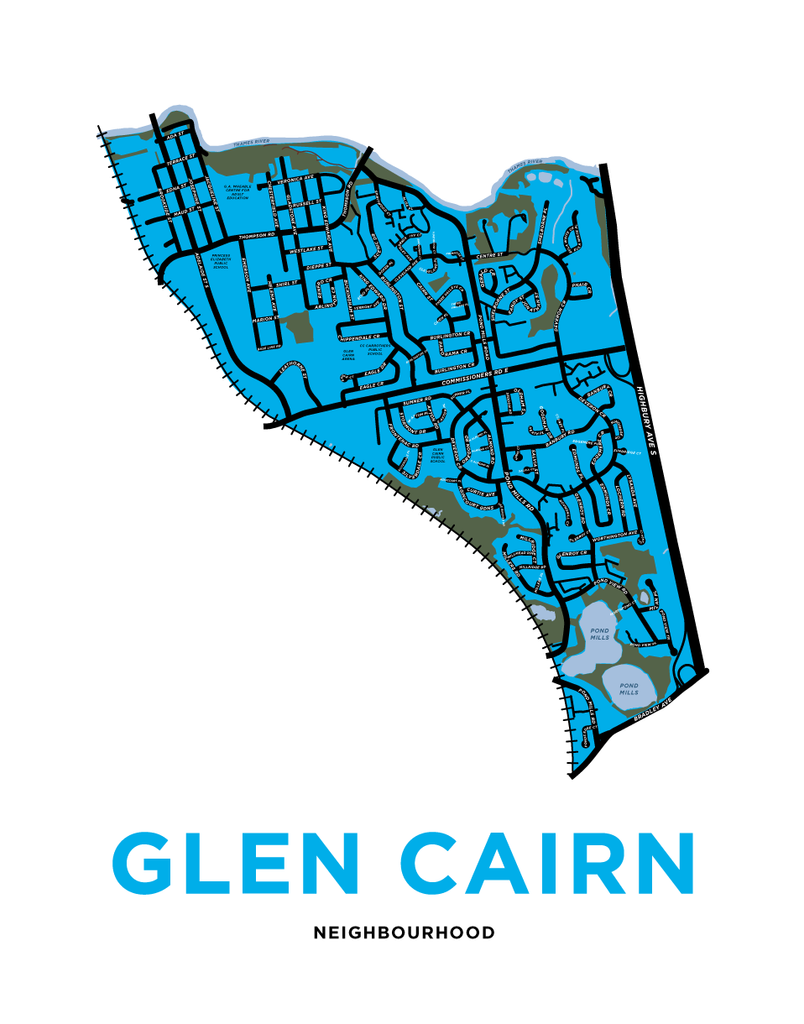 Glen Cairn Neighbourhood Map Print
