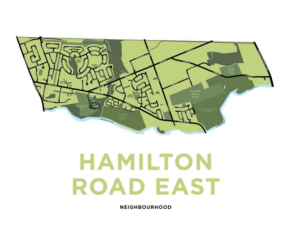 Hamilton Road East Map Print