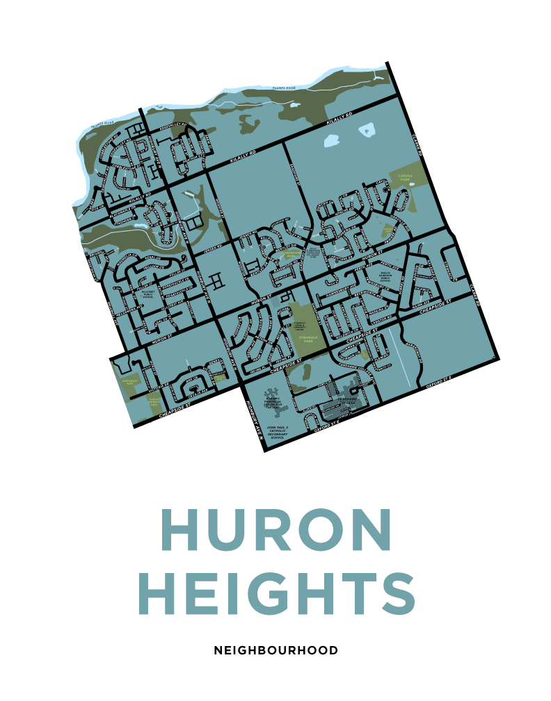 Huron Heights Neighbourhood Map Print
