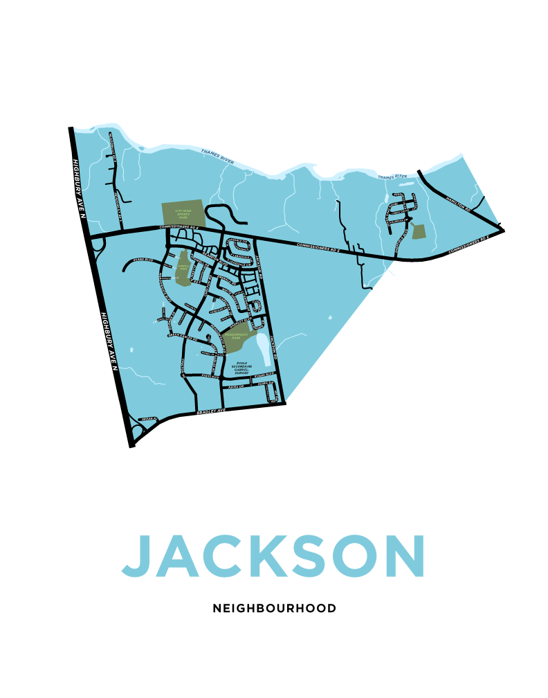 Jackson Neighbourhood Map Print