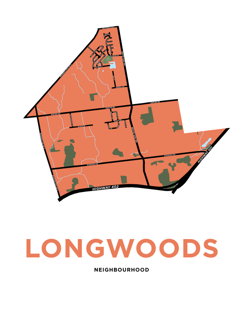 Longwoods Neighbourhood Map Print
