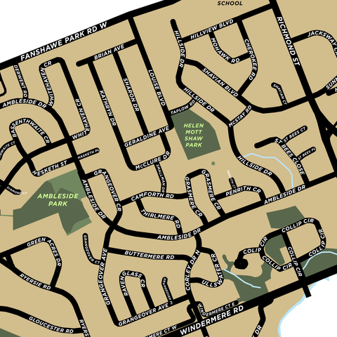 Masonville Neighbourhood Map Print