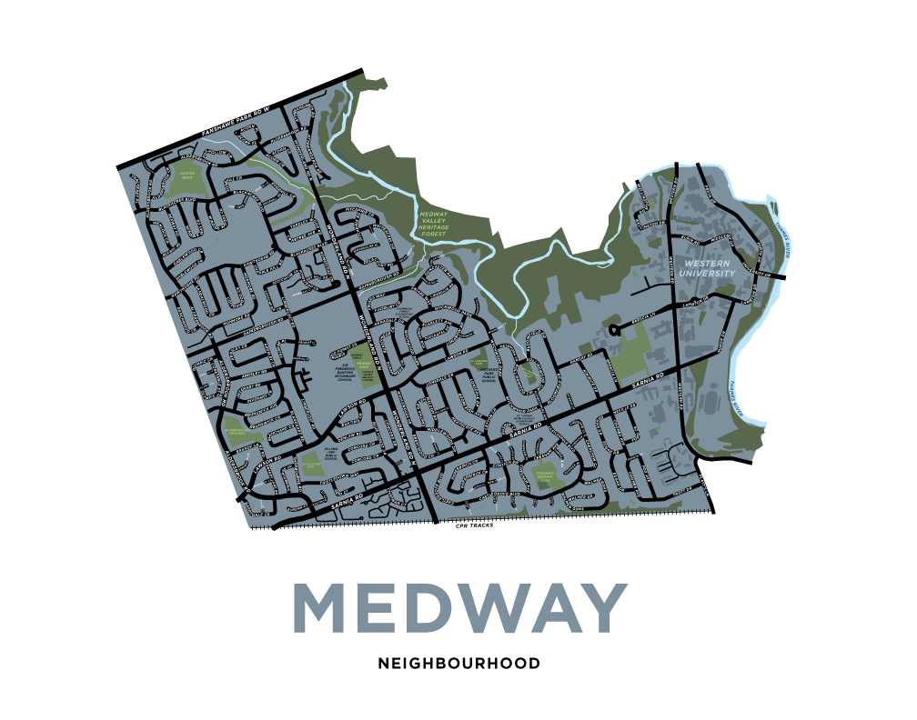 Medway Neighbourhood Map Print