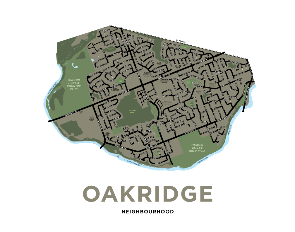 Oakridge Map Print