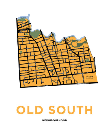 Old South Neighbourhood Map (London, Ontario)