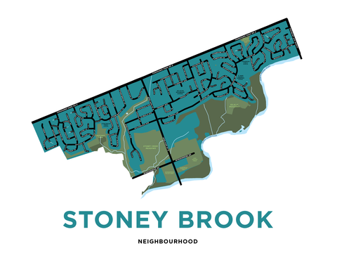 Stoney Brook Neighbourhood Map Print