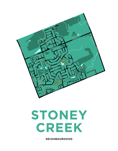 Stoney Creek Neighbourhood Map Print (London, ON)
