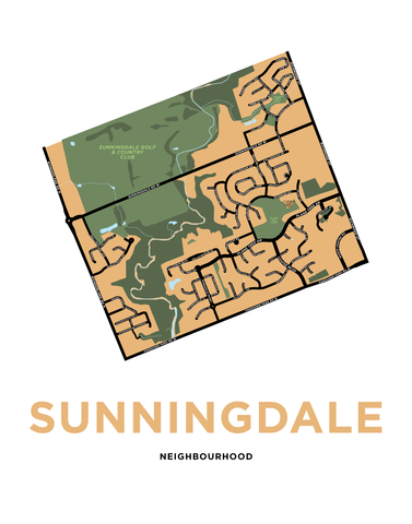Sunningdale Neighbourhood Map Print