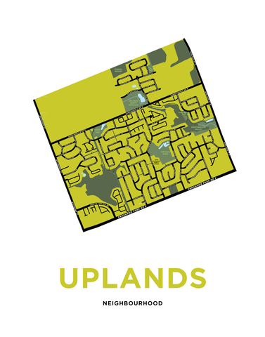 Uplands Neighbourhood Map Print