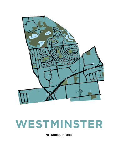 Westminster Neighbourhood Map Print
