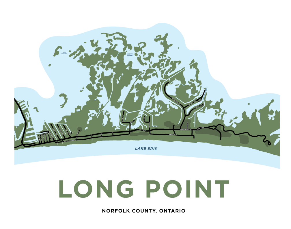 Long Point Map Print - Residential
