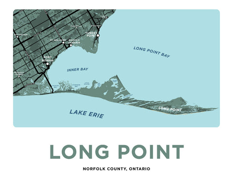Long Point Map Print - Full Point