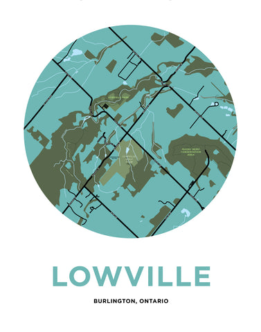Lowville Map Print