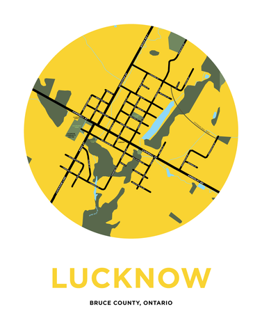 Lucknow Map Print