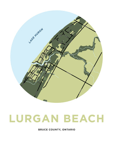 Lurgan Beach Map Print