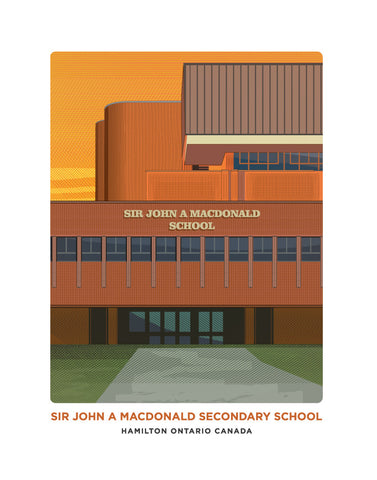 Sir John A Macdonald Secondary School Print
