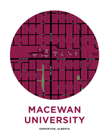 MacEwan University Campus Map Print