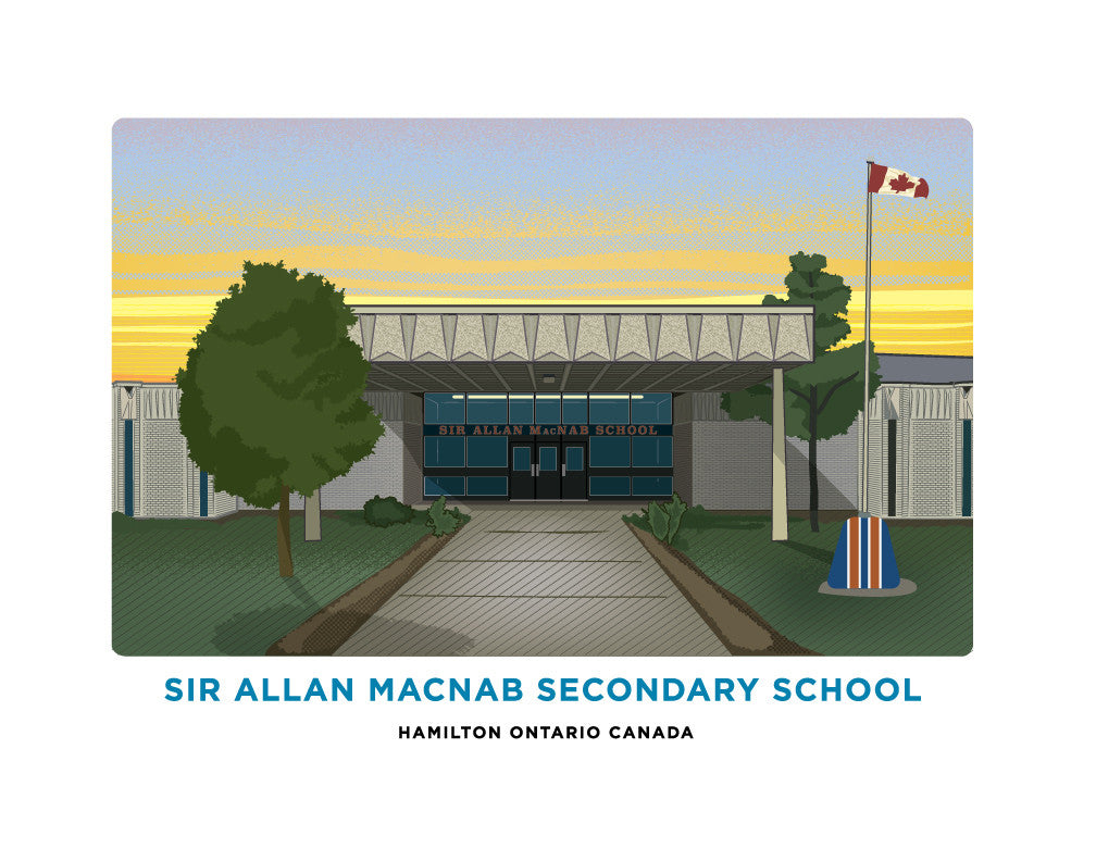 Sir Allan MacNab Secondary School Print