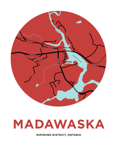 Madawaska Map Print
