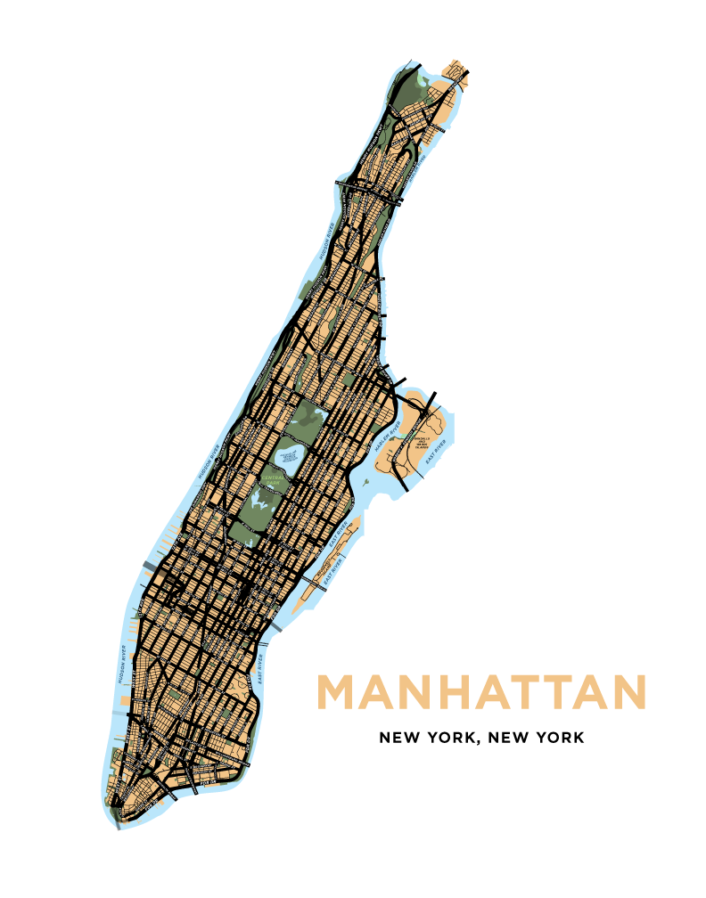 Manhattan Map Print