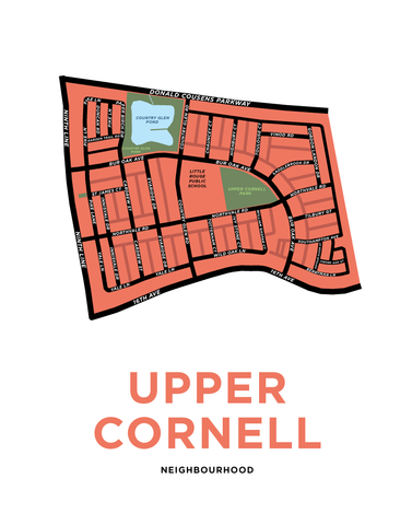 Upper Cornell Neighbourhood Map Print