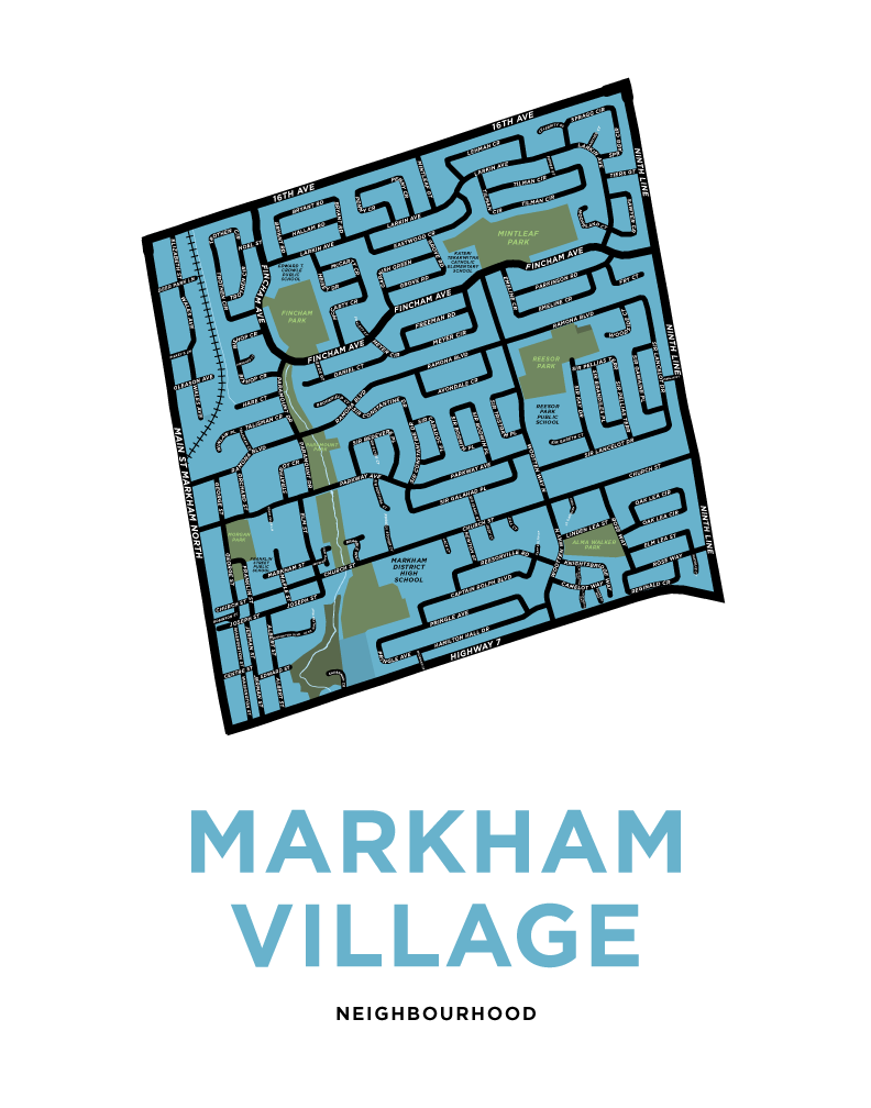 Markham Village Map Print