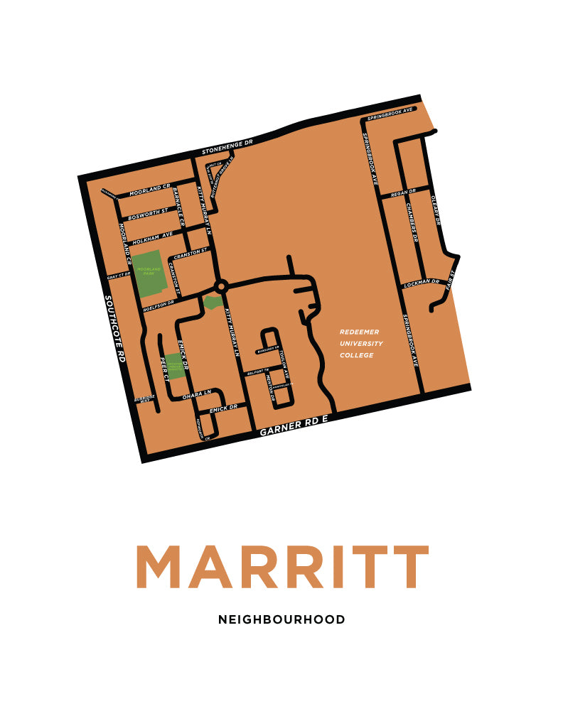 Marritt Neighbourhood Map Print