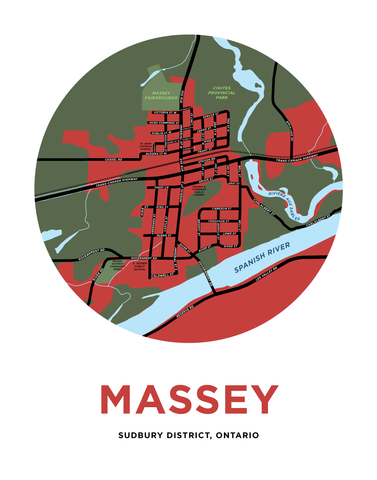 Massey Map Print