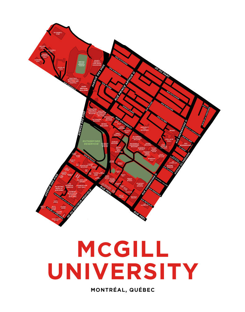 McGill University Map Print