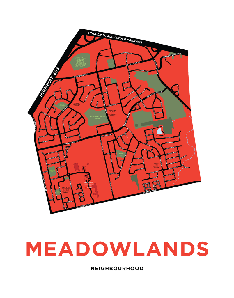 Meadowlands Neighbourhood Map