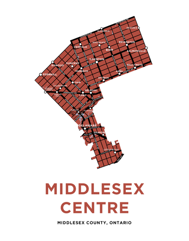 Middlesex Centre Map Print